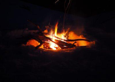 Feu de Camp en Bivouac