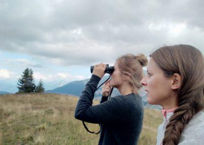 Observation aux jumelles