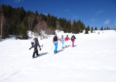 Randonnée en Raquettes au plateau des Glières