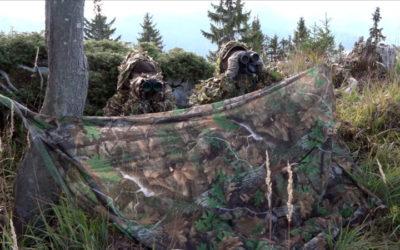 Sur les traces du cerf en opération camouflage avec Léman Bleu TV